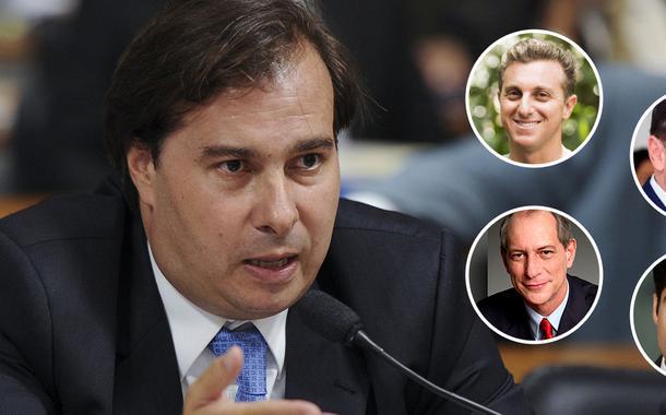 Rodrigo Maia, Luciano Huck, João Doria, ACM Neto e Ciro Gomes