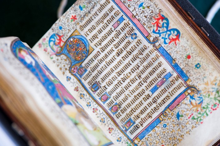 The newly acquired UBC Library 15th-century Book of Hours. Image: UBC media