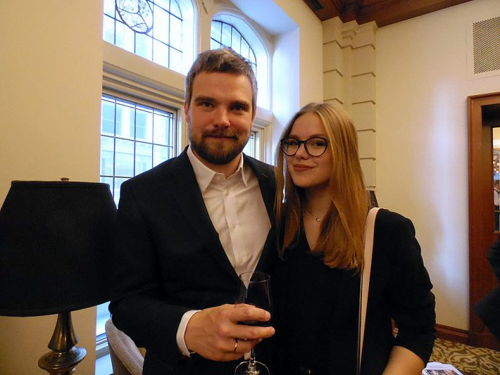 Zygmunt Miłoszewski and his daughter Maja were guests in May of the Polish Consulate at Chicago's University Club. Image: Porter Anderson