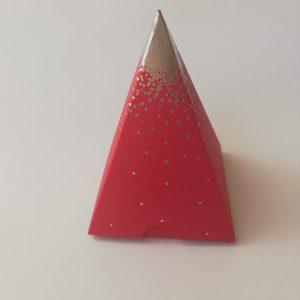 Contenant Pyramide pluie d'étoile Rouge