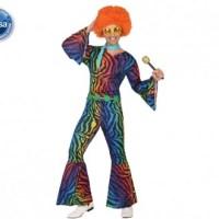 Déguisement disco homme multicolore - atosa