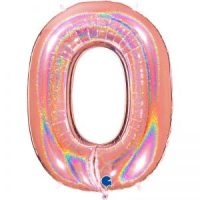 Ballon chiffre alu 102cm glitter rose gold