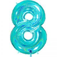 ballon chiffre alu glitter