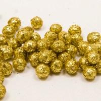 Mini boule pailletée or