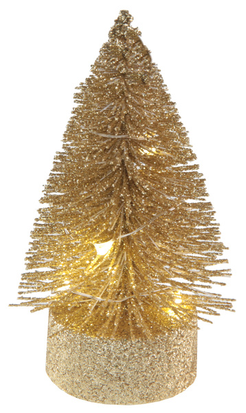 Sapin lumineux 10cm Or