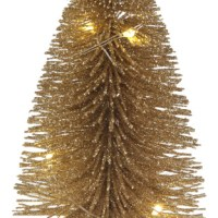 Sapin lumineux 12cm Or