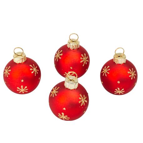 Boule de Noël marque place rouge x4