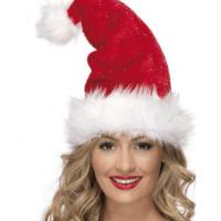 Bonnet Père Noël scintillant