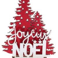 Décor Joyeux Noel sapin rouge