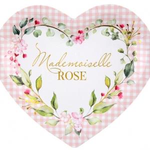Assiette Mademoiselle ROSE x10