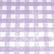 Chemin de table Carreaux parme et blanc. 5m x 30cm