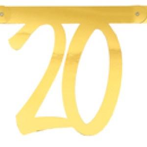 Banderole âge métal 20ans