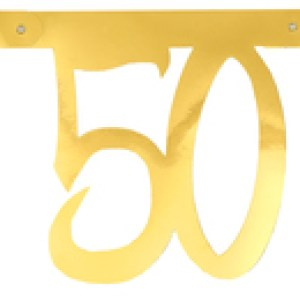 Banderole âge métal 50ans