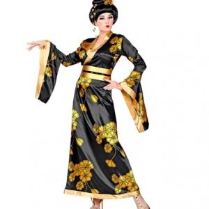 Déguisement Geisha Noir et or