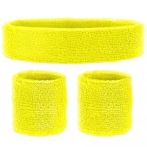 Set Bandeau jaune néon