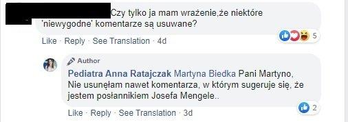 Anna Ratajczak - hejterzy i usuwanie komentarzy