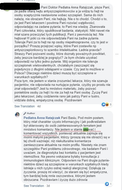 Anna Ratajczak - szczepieniaAnna Ratajczak - szczepienia
