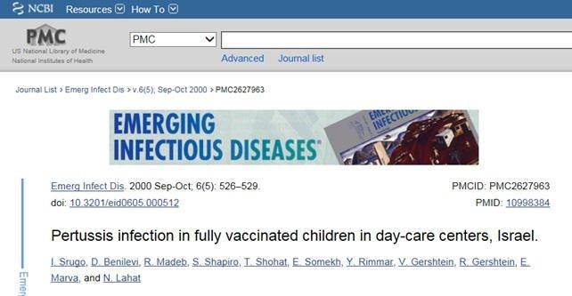 Krztusiec wśród całkowicie zaszczepionych dzieci