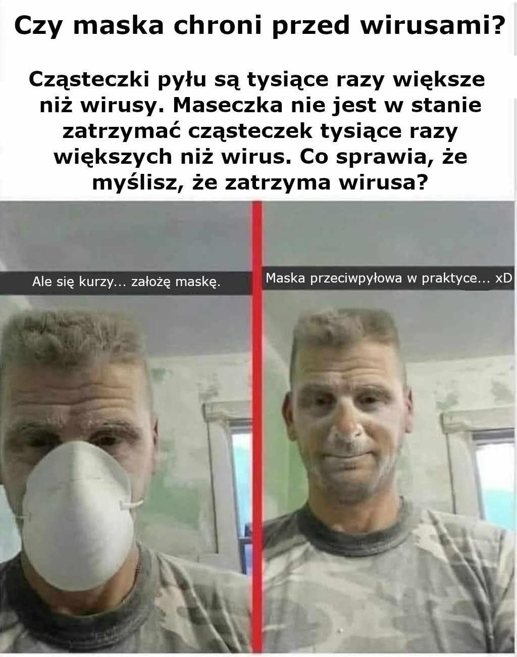 Czy maska chroni przed wirusami?