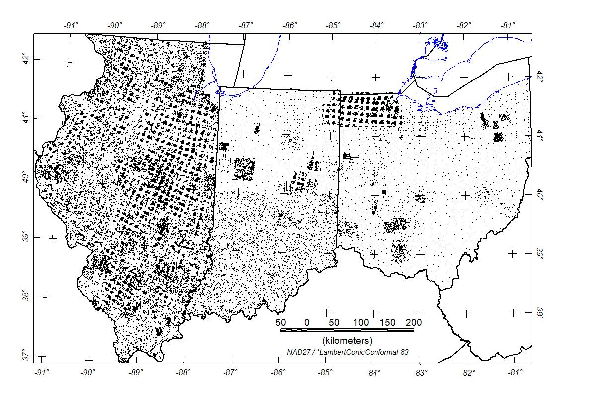 Usgs Data Series 321 Illinois Indiana And Ohio Magnetic
