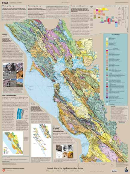 Geologic Map of the San Francisco Bay Region