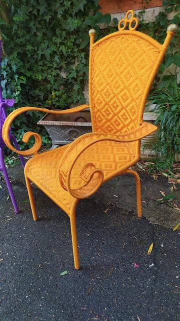 fauteuils africains fil de peche plastique tresse