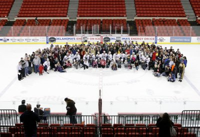 Ice day game. The 200 fans that made it to the game.