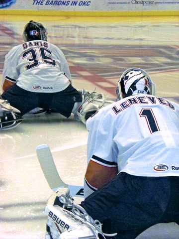 When we had the #1 and #2 goaltenders in the AHL.