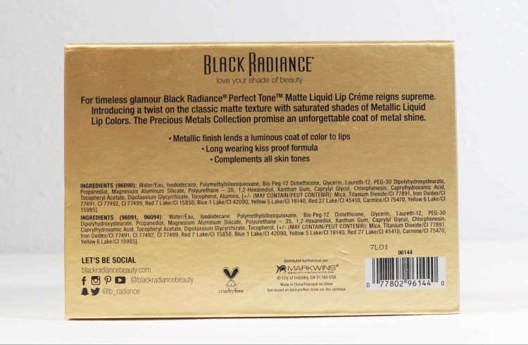 Black Radiance Precious Metals Lip Kit