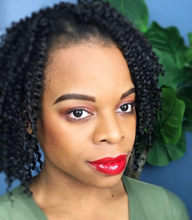 inc.redible Glitter Lip Topper over ABH Ruby Matte Lipstick