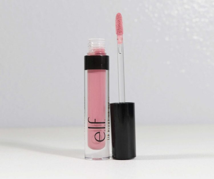 elf lip plumping lip gloss in sparkling Rose
