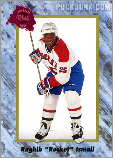 Rocket Ishmail Hockey Card