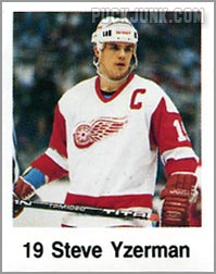 1988-89 Frito Lay Stickers - Steve Yzerman