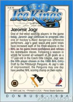 1993-94 Donruss Ice Jaromir Jagr (back)