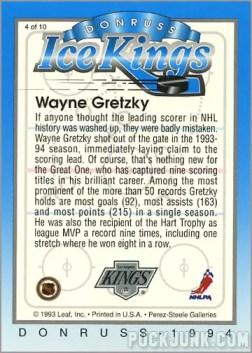 1993-94 Donruss Ice Wayne Gretzky (back)
