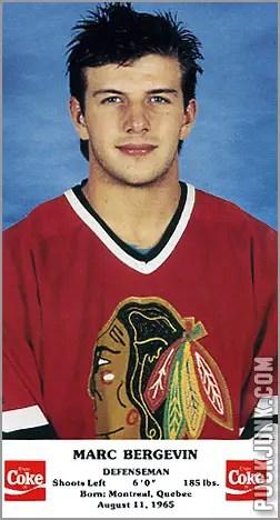 1986-87 Chicago Blackhawks - Marc Bergevin