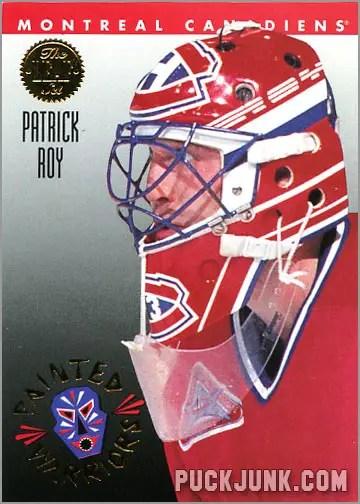 1992-93 Leaf Painted Warriors Patrick Roy
