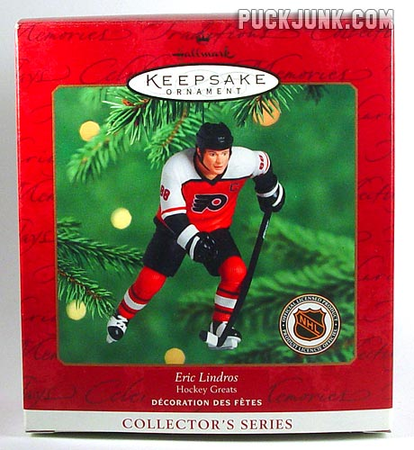 2000 Eric Lindros Ornament - box front