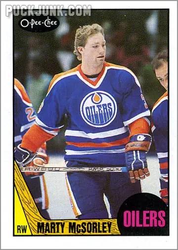 1987-88 OPC #205 - Marty McSorley