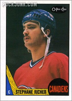 1987-88 OPC #233 - Stephane Richer