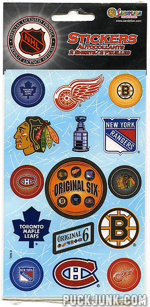 Original Six Stickers