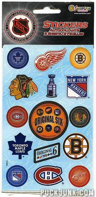 NHL Original Six stickers