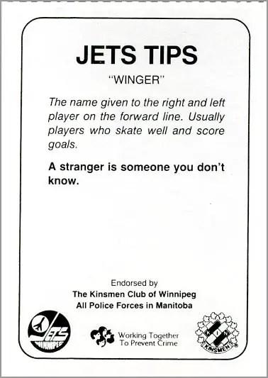 1985-86 Winnipeg Jets - Dan Bouchard (back)