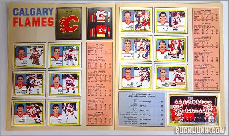 1988-89 Panini Stickers - Calgary Flames