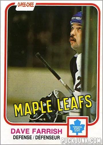 Dave Farrish OPC Hockey Card