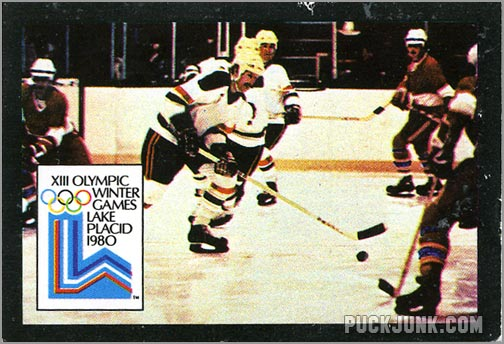 1980 US Olympic Team Hockey Card