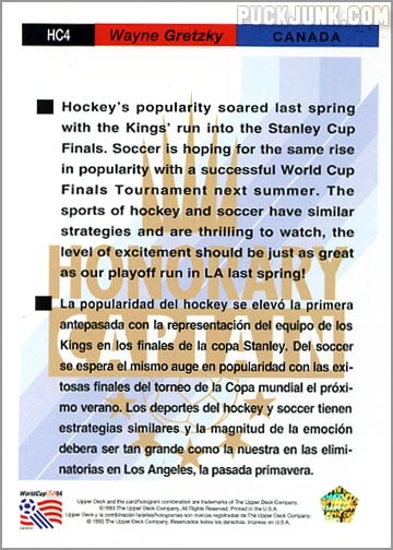 Card of the Week: Soccer, Eh? - Puck Junk