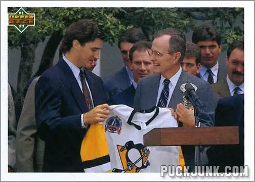 George Bush & Mario Lemieux