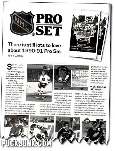 Beckett Hockey #209 - Pro Set Article