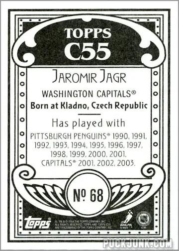 2003-04 Topps C55 #68 - Jaromir Jagr (back)